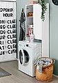 welltime Waschmaschinenumbauschrank »Elis« Breite 64 cm, Badmöbel weiß, Bild 7
