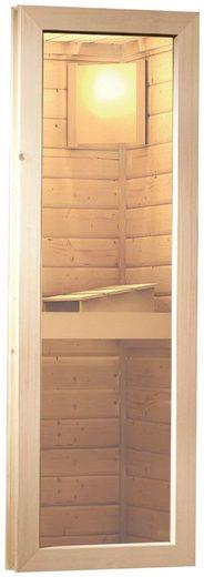 KARIBU Saunafenster klar, für 38 und 40 mm Wandstärke