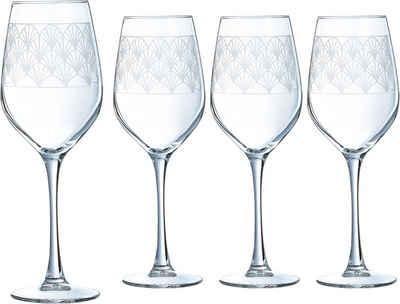 Luminarc Weinglas »Paradisio«, Glas, mit Pantographie-Optik, 4-teilig