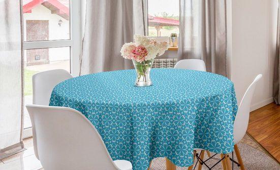Abakuhaus Tischdecke »Kreis Tischdecke Abdeckung für Esszimmer Küche Dekoration«, Blumen Abstrakte Modern Art Deco