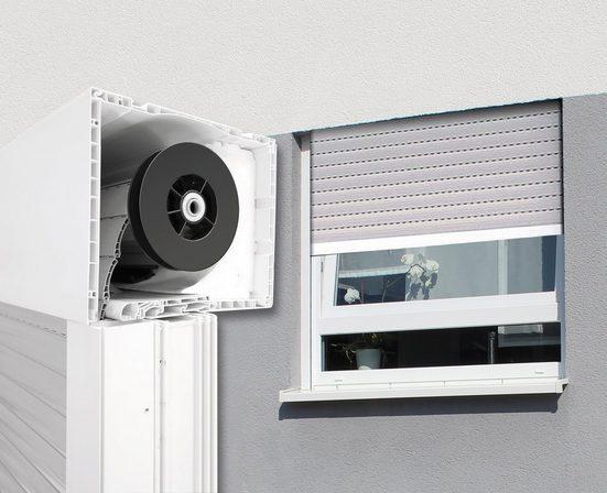 SCHELLENBERG Aufsatzrollladen Aluminium, für Roro-Fenster 100x210 cm