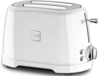 NOVIS Toaster T2 weiss, 2 kurze Schlitze, 900 W