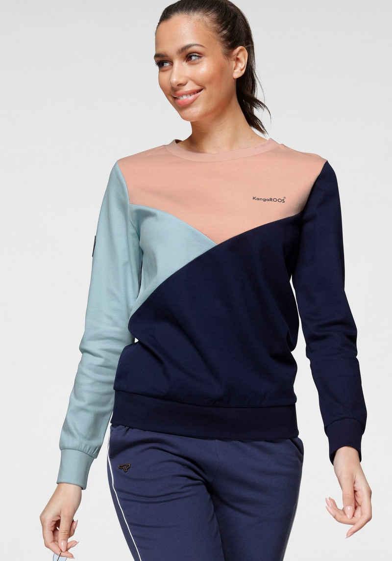 KangaROOS Sweatshirt mit asymetrischem Colour-Blocking - NEUE KOLLEKTION