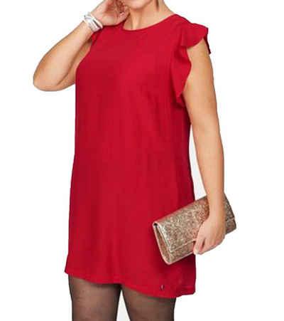 JETTE Cocktailkleid »JETTE Kleid stylisches Damen Mini-Kleid Silvester-Kleid mit Rüschen Business-Kleid Rot«