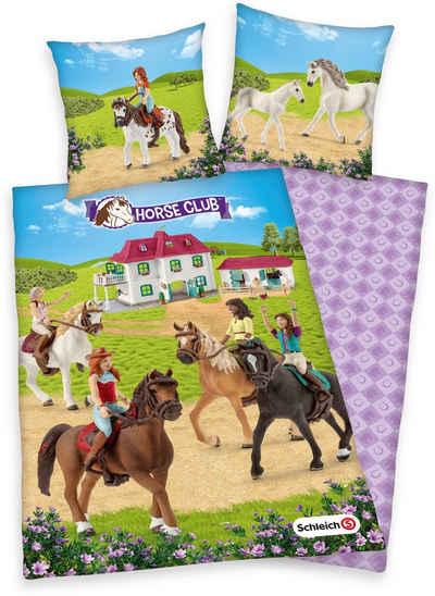 Kinderbettwäsche »Schleich, Horse Club«, Schleich®, mit tollem Horse-Club-Motiv