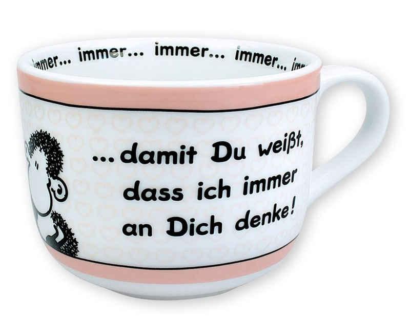 "Sheepworld Tasse »Sheepworld - XXL Kaffeetasse ""...immer an dich denke!"" 0,62l H9cm Tasse (42691)«"