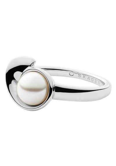 Skagen Perlenring »AGNETHE, SKJ1369040«, mit Perle (synth)