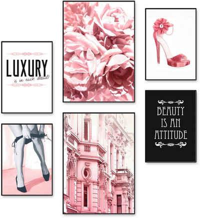 Artland Poster »Lebensstil Beauty«, Frau (6 Stück), Poster, Wandbild, Bild, Wandposter