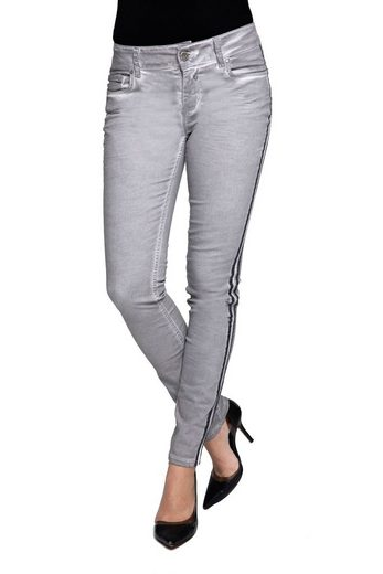 Coccara Stoffhose »CURLY NON-DENIM« Coccara Damen Hose Non Denim Vintage Slim Fit Curly