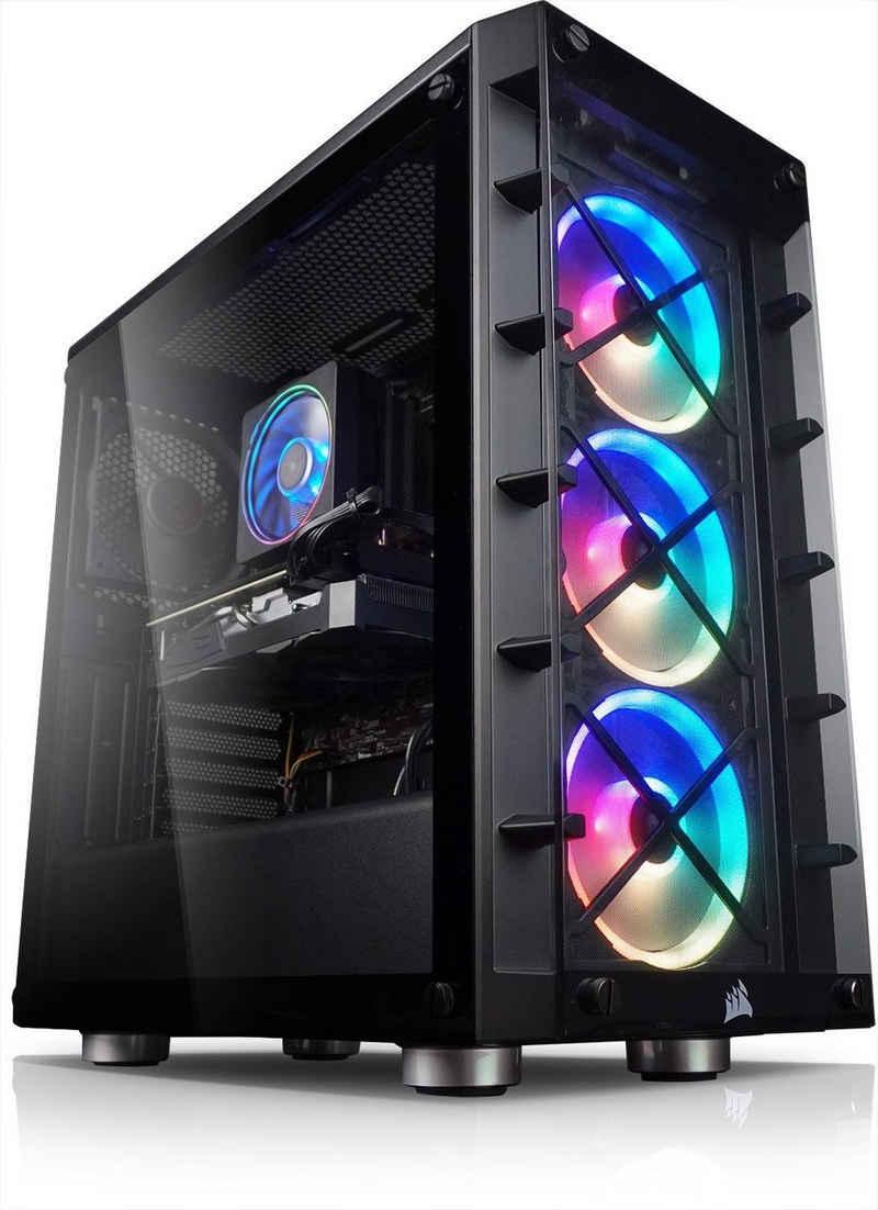 Kiebel Vulkano V Gaming-PC (AMD Ryzen 9 AMD Ryzen 9 5950X, RTX 3090, 64 GB RAM, 3000 GB SSD, Wasserkühlung, RGB-Beleuchtung)