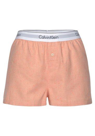 Calvin Klein Shorts mit Wäschebund und Zierknopf