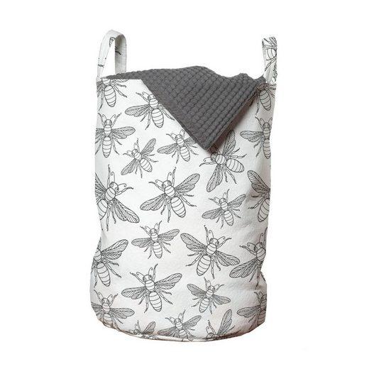 Abakuhaus Wäschesack »Wäschekorb mit Griffen Kordelzugverschluss für Waschsalons«, Insekten Die Wiederholung Uncolored Flies