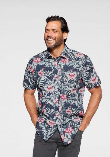 Man's World Kurzarmhemd in Hawaii-Optik