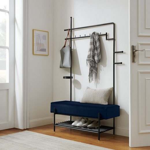 COUCH♥ Garderobenständer »Hereinspaziert«, Gestell aus Edelstahl in goldfarben oder schwarz