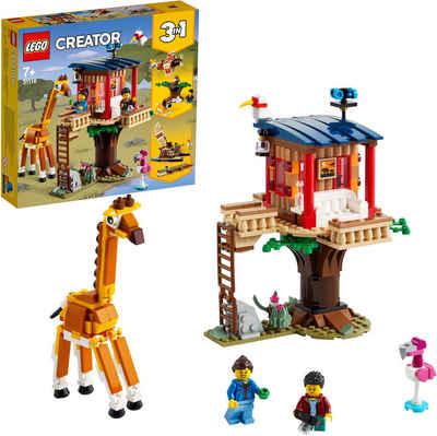 LEGO® Konstruktionsspielsteine »Safari-Baumhaus (31116), LEGO® Creator 3in1«, (397 St)