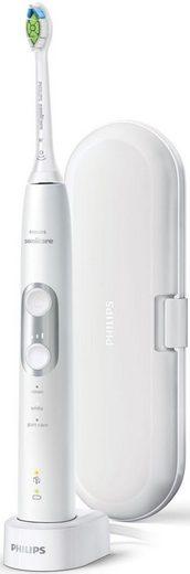 Philips Sonicare Elektrische Zahnbürste HX6877/28, Aufsteckbürsten: 1 St., ProtectiveClean 6100, Schallzahnbürste, mit 3 Putzprogrammen inkl. Reiseetui & Ladegerät