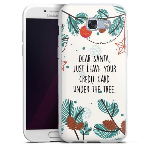 DeinDesign Handyhülle »Dear Santa« Samsung Galaxy A3 (2017), Hülle Sprüche Statement Weihnachten