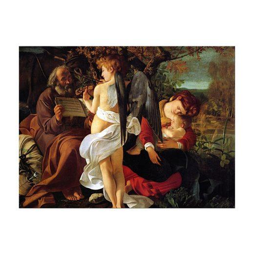 Bilderdepot24 Leinwandbild, Leinwandbild - Caravaggio - Ruhe auf der Flucht nach Ägypten
