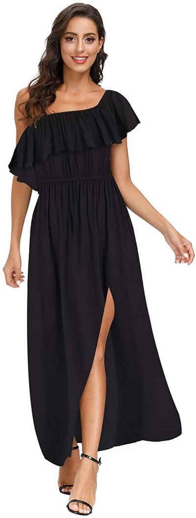 Yidarton Maxikleid »Damen Ärmellose Kleider« A-Linie, 4 in 1 Kleider, Elegant