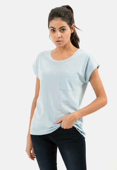 camel active T-Shirt »T-Shirt mit Rundhals aus Organic Cotton«