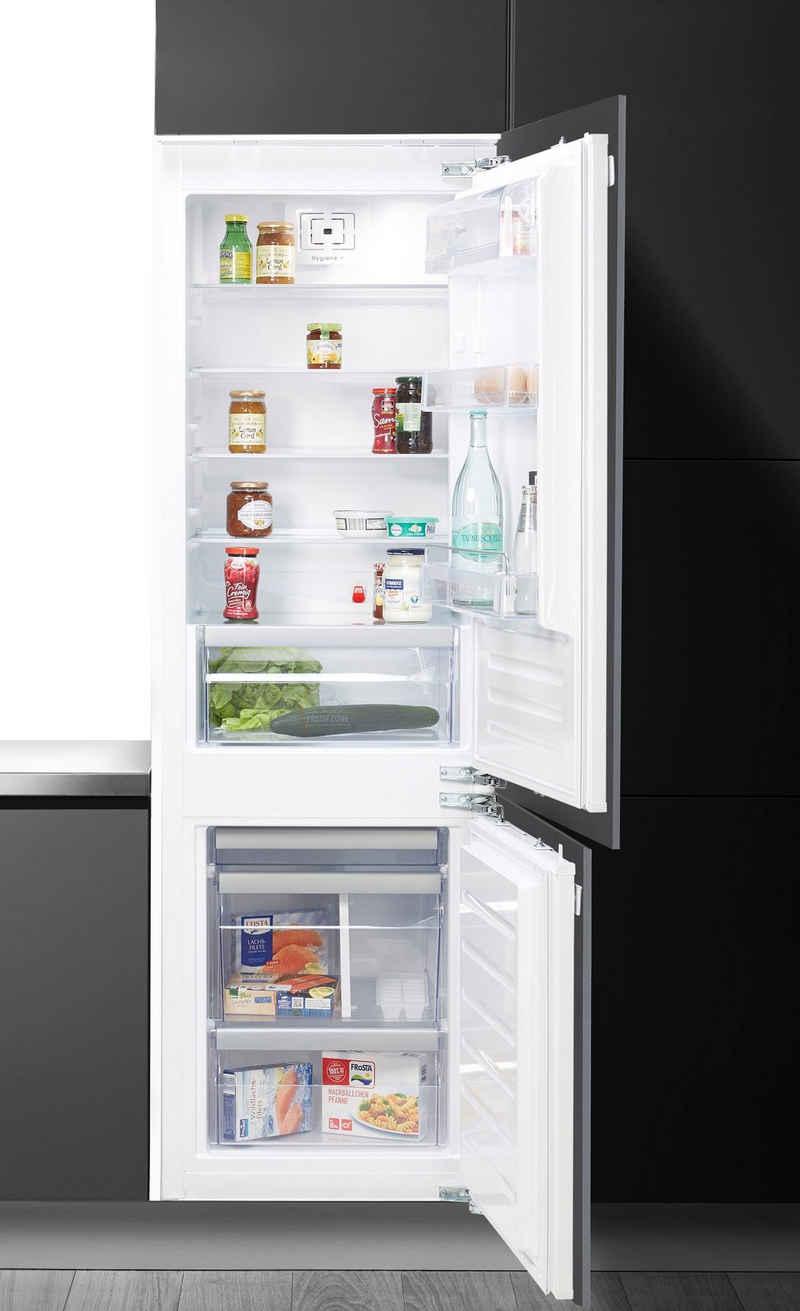 BAUKNECHT Einbaukühlgefrierkombination KGIL 180F2 P, 177 cm hoch, 55,7 cm breit, Hygiene Plus