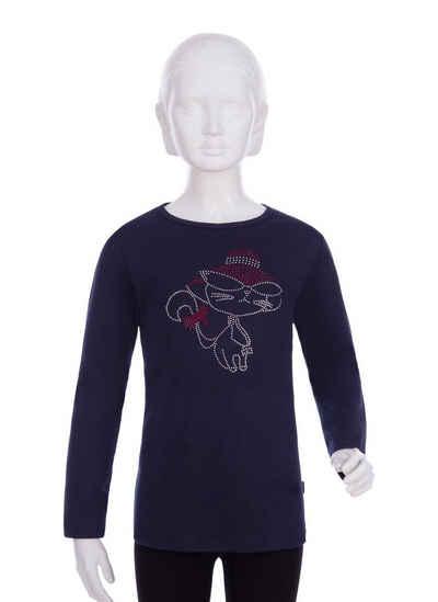 Trigema Langarmshirt mit Motiv aus Strass-Steinen