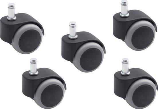 MEISTER Doppellauf-Rollen , 5 Stk, Ø 50 mm