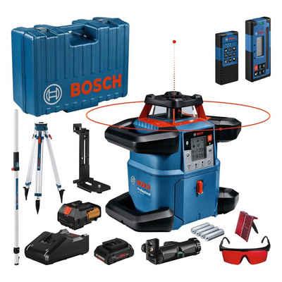 Bosch Professional Rotationslaser »GRL 600 CHV«, (Set), Baustativ BT 170 und Messlatte GR 240, Handwerkerkoffer mit Akku ProCORE18V, mit Laserzieltafel