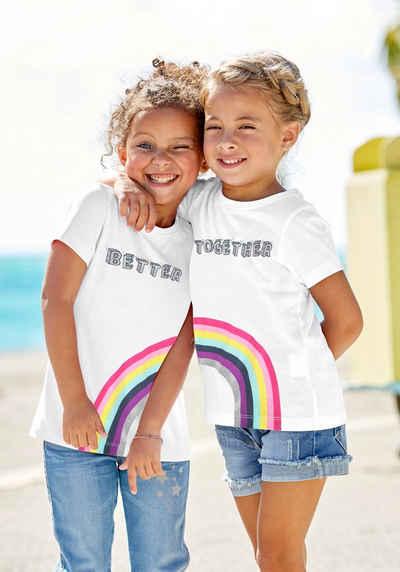 KIDSWORLD Print-Shirt »BETTER TOGETHER« (Packung, 2er-Pack) für Freundinnen