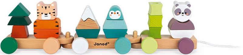 Janod Nachziehspielzeug »WWF® Spaziergang der Tiere«, FSC®-Holz aus gewissenhaft bewirtschafteten Wäldern