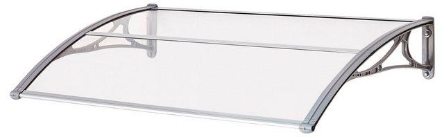 Vordach EMMA 1200 B/T/H: 120/80/21 cm, grau