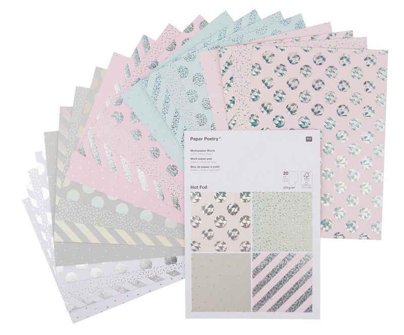 VBS Designpapier »Hot Foil«, 20 Blatt