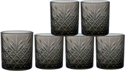 Leonique Whiskyglas »Lelant«, Glas, durchgefärbtes Glas mit dekorativer Struktur, 340 ml, 6-teilig