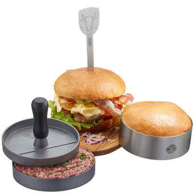 GEFU Burgerpresse GEFU Burger-Set BBQ 3 teilig