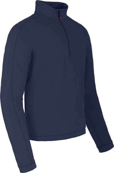 Bergson Fleeceshirt »VARDON« Herren Fleecerolli, warm, innen angeraut, Normalgrößen, peacoat blau