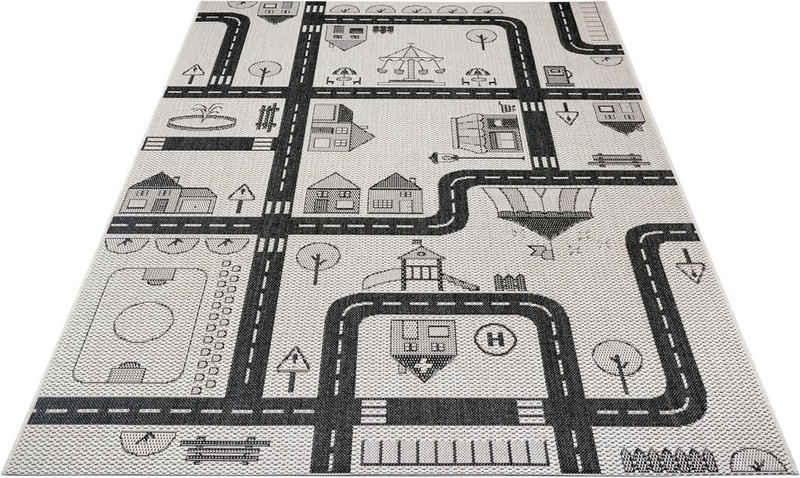 Kinderteppich »Henry«, Lüttenhütt, rechteckig, Höhe 3 mm, Straßen-Spielteppich, In- und Outdoor geeignet