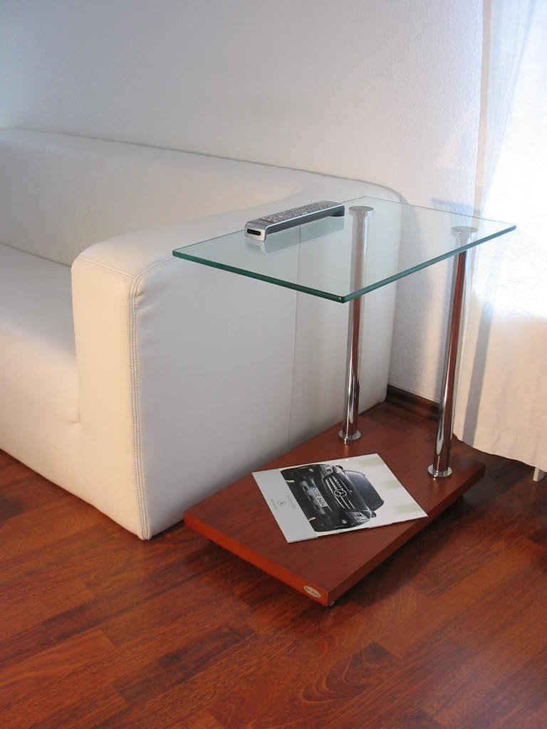 carl svensson Beistelltisch »Design Beistelltisch Tisch Ecktisch V-270 Kirschbaum Kirsche Glas Carl Svensson«