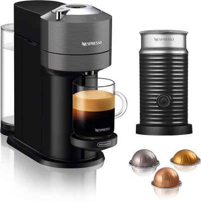 Nespresso Kapselmaschine ENV 120.GY Vertuo Next, grau, mit Aeroccino Milchaufschäumer im Wert von 75,- UVP