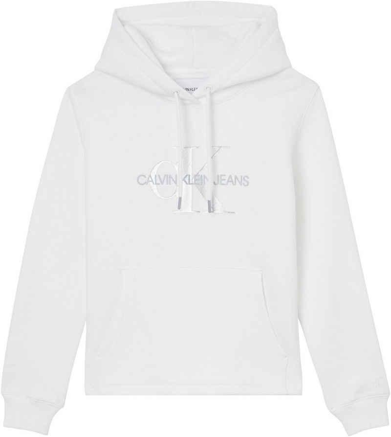Calvin Klein Jeans Kapuzensweatshirt »GLOSSY MONOGRAM HOODIE« mit Glossy CK Logo-Monogramm & Schriftzug