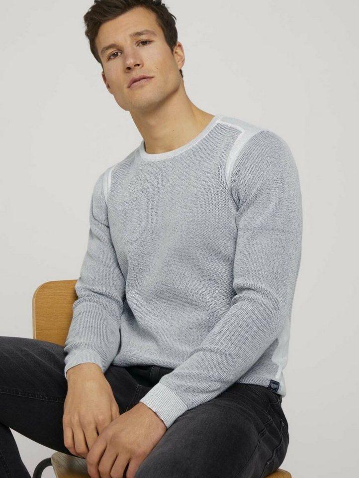 tom tailor -  Strickpullover »Pullover mit Rippbündchen«