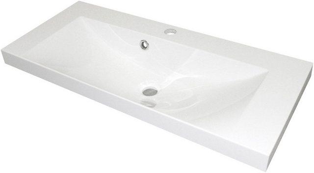 Fackelmann Waschbecken 80 cm Malua Weiß