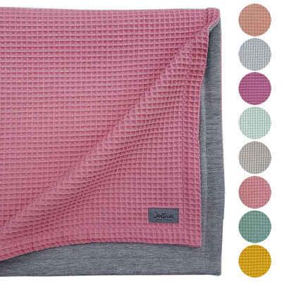 Babydecke »Waffelstoff Waffelpiqué«, JOLLAA, Kinderwagendecke 100 x 70 cm Baumwolle MADE IN EUROPA