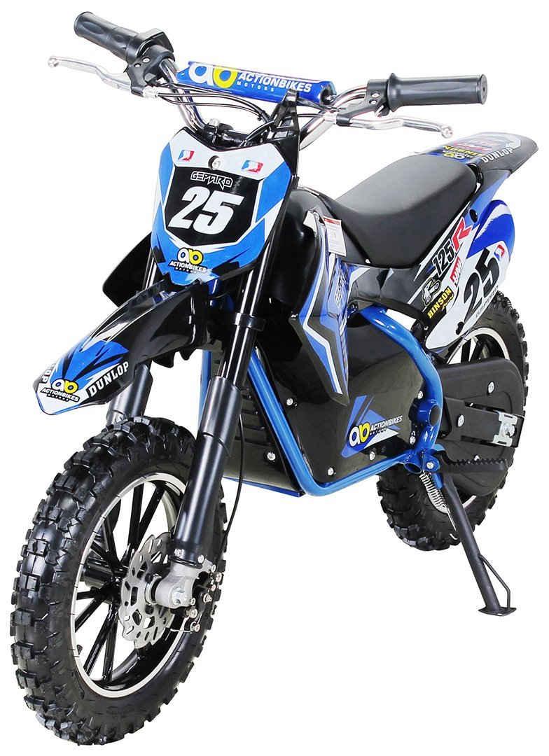 Actionbikes Motors Dirt-Bike »Gepard«, 3 Gang, 3 Geschwindigkeitsstufen, Starker 500 Watt Elektromotor, Bis 15 Km Reichweite