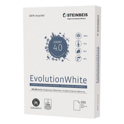 STEINBEIS Recyclingpapier »Evolution White«, Format DIN A4, 80 g/m²