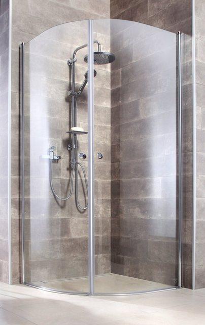 Duschen und Zubehör - welltime Runddusche »Florenz«, BxT 90x90 cm, Einscheibensicherheitsglas, mit Hebe Senk Mechanismus, barrierefrei einbaubar  - Onlineshop OTTO