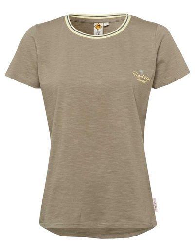 ROADSIGN australia T-Shirt »Spring« (1-tlg) mit Vokuhila-Schnitt und Kontrastausschnitt