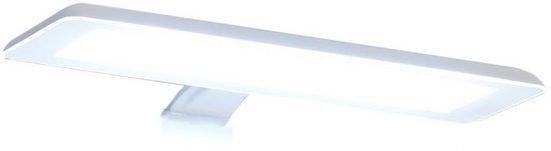 PELIPAL LED Spiegelleuchte, Breite 30 cm, Lichtfarbe kaltweiß, Aufbauleuchte weiß