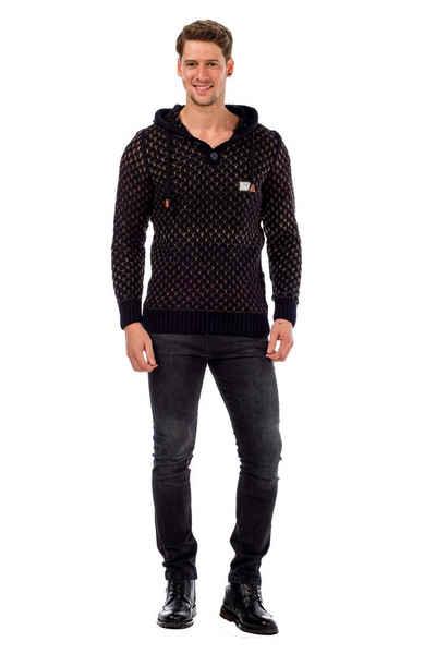 Cipo & Baxx Kapuzensweatshirt mit coolem Muster