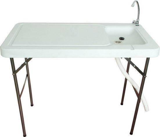 NATIV Haushalt Waschtisch-Set, Campingtisch mit Spüle, Wasserhahn, klappbar