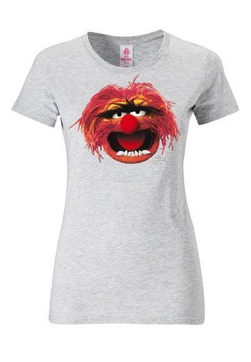 LOGOSHIRT T-Shirt mit tollem Print »Das Tier - Animal - Portrait - Muppets«